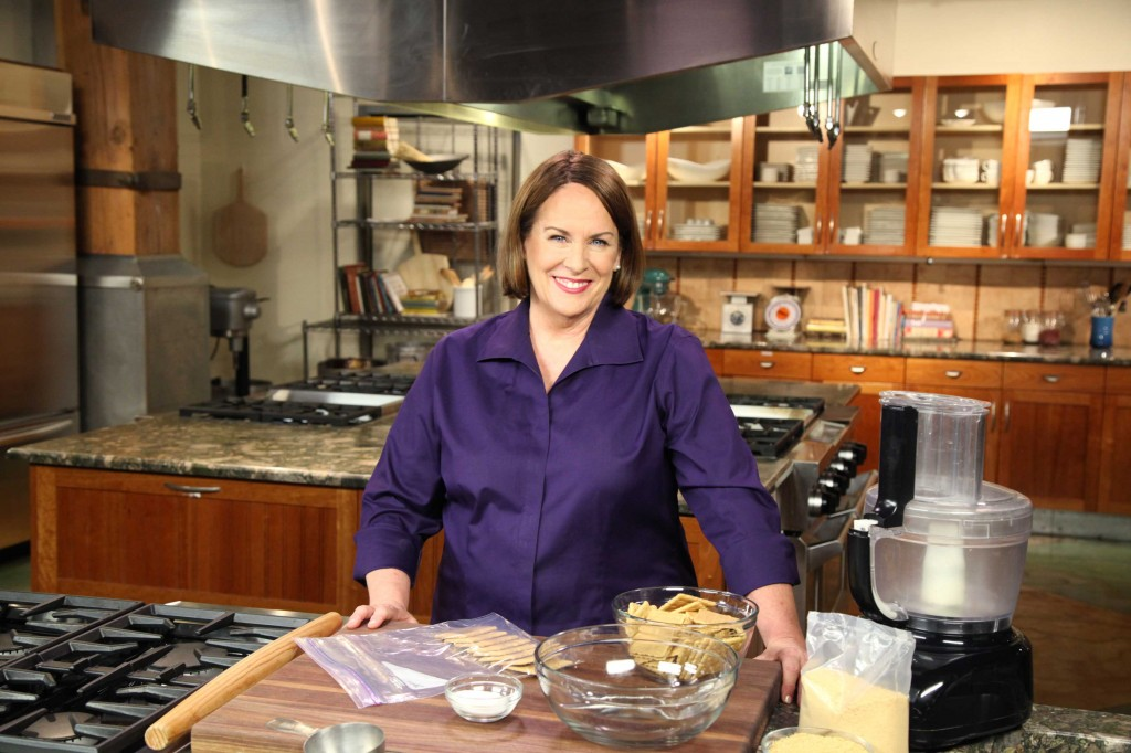 Nancie McDermott in her kitchen preparing to bake.