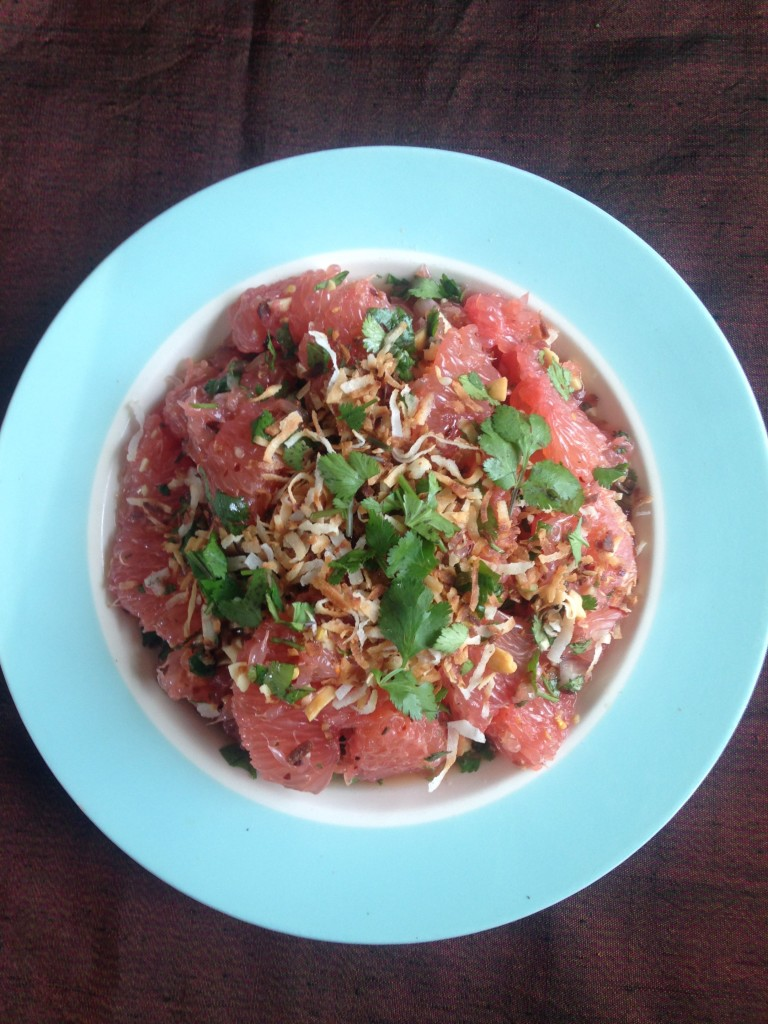 pink grapefruit salad